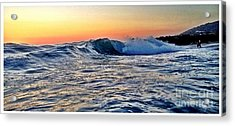 Little Big Wave Acrylic Print by Sebastian Acevedo