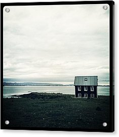 Little Black House By The Sea Acrylic Print