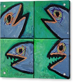 Little Blue Fish Acrylic Print