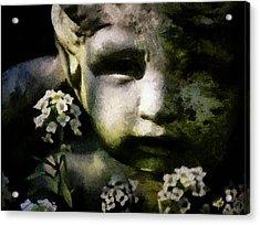 Little Boy Of Stone Acrylic Print by Gun Legler