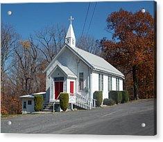 Little Country Church Acrylic Print by Angelika MacDonald