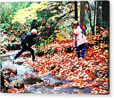 Acrylic Print featuring the mixed media Little Explorers 2 by Bruce Ritchie