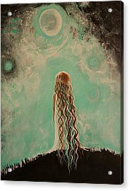 Little Galaxie One Acrylic Print by Leslie Allen