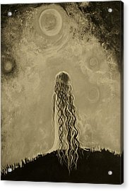 Little Galaxie Too Acrylic Print by Leslie Allen