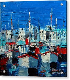 Little Harbor Acrylic Print by Mona Edulesco