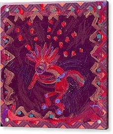 Little Kokopelli With Big Ideas Acrylic Print by Anne-Elizabeth Whiteway