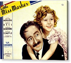 Little Miss Marker, Adolphe Menjou Acrylic Print by Everett