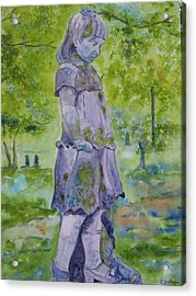 Acrylic Print featuring the painting Little Nanny  by Patsy Sharpe