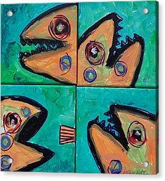 Little Orange Fish Acrylic Print by Krista Ouellette