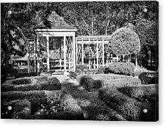 Little Park In Philadelphia 2 Acrylic Print by Val Black Russian Tourchin