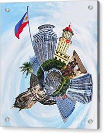 Little Planet - Manila Acrylic Print by Yhun Suarez