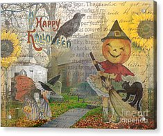 Little Pumpkin Girl Acrylic Print