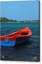 Little Red Boat Acrylic Print
