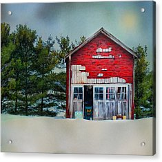 Little Red Shed Acrylic Print by Mary Timman