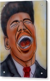 Little Richard Acrylic Print by Pete Maier