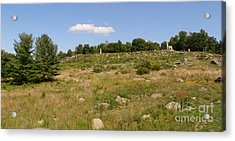 Little Round Top From Devils Den Acrylic Print by David Bearden