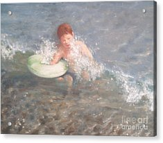 Little Swimmer Acrylic Print