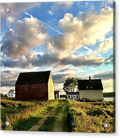 Little Tancook Island Farmhouse Acrylic Print by Luke Kingma