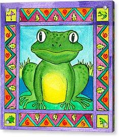 Little Toad Acrylic Print by Pamela  Corwin