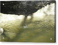 Little Waterfall Acrylic Print by Anna Stearman