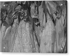 Little White Dresses Acrylic Print by Anna Villarreal Garbis