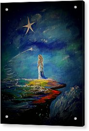 Little Wishes One Acrylic Print by Leslie Allen