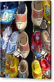 Little Wooden Shoes Acrylic Print by Jill Pro