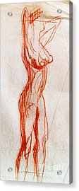 Live Model Study 1 Acrylic Print by Mona Edulesco