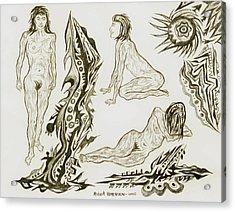 Live Nude 17 Female Acrylic Print by Robert SORENSEN