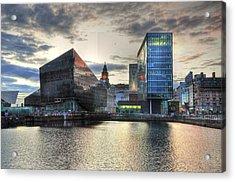 Liverpool After Dark Acrylic Print by Barry R Jones Jr