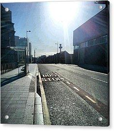 #liverpool #uk #england #bus #busstop Acrylic Print