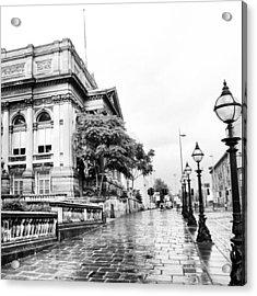 #liverpool #uk #england #rainy #rain Acrylic Print