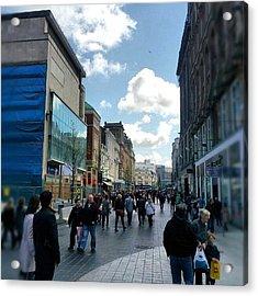 #liverpool #uk #england #street #market Acrylic Print by Abdelrahman Alawwad
