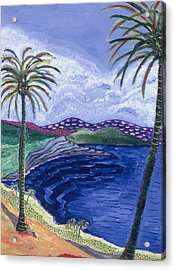 Living In Paradise Acrylic Print by Manny Chapa
