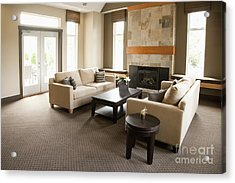 Living Room In An Upscale Home Acrylic Print by Shannon Fagan