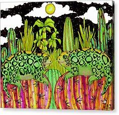 Lizards In Love Acrylic Print by Dede Shamel Davalos
