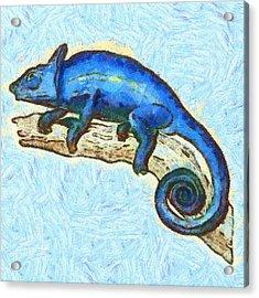 Lizzie Loved Lizards Acrylic Print