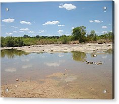 Acrylic Print featuring the photograph Llano River 'the Slab' by Elizabeth Sullivan
