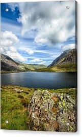 Llyn Idwal Lake Acrylic Print by Adrian Evans