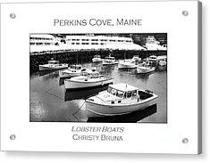 Lobster Boats Acrylic Print by Christy Bruna