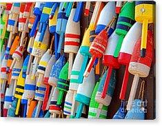Lobster Trap Buoys Acrylic Print by Olivier Le Queinec