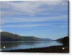 Acrylic Print featuring the photograph Loch Linnhe by David Grant
