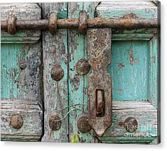 Acrylic Print featuring the photograph Lock The Door by Denise Pohl