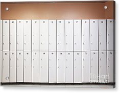 Lockers Acrylic Print by Magomed Magomedagaev