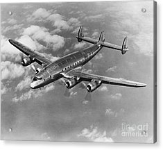 Lockheed Constellation Acrylic Print by Photo Researchers