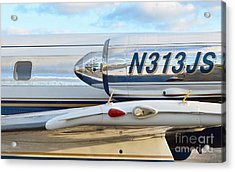 Lockheed Jet Star Engine Acrylic Print by Lynda Dawson-Youngclaus