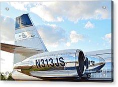 Lockheed Jet Star Acrylic Print by Lynda Dawson-Youngclaus