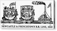 Locomotive, 1833 Acrylic Print by Granger