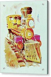 Locomotive Acrylic Print by Frank Hunter