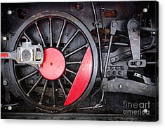 Locomotive Wheel Acrylic Print by Carlos Caetano